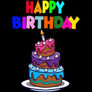 Lustige Dekorierter Geburtstagskuchen mit Kerze