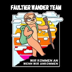 Faultier Wanderer Team Wandern Wanderer Berge