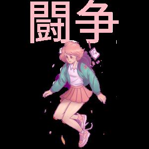 Anime Manga Girl Fight Japanese Japan Girlpower