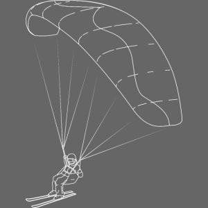Speedriding Speedflying fine line sketch