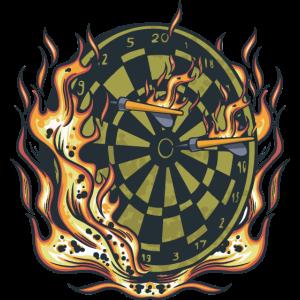 Brennende Dartscheibe