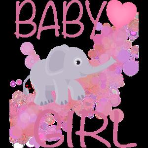 Baby Girl mit Elefant