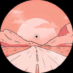 Straße zu den Bergen Sonnenuntergang LP Design