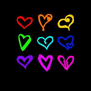 Regenbogen Valetinstag Romantisch Romantik