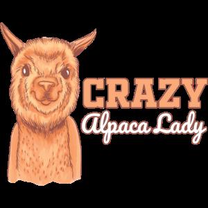 Alpaka-Liebhaber Verrückte Alpaka-Dame Llama Alpak