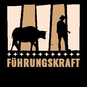 Führungskraft Landwirt Kuh Kühe Bauer Vieh Spruch