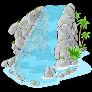 Erstaunlicher Wasserfall