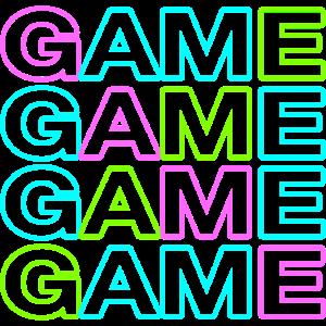 Trendiges Gamer Shirt GAME GAME GAME GAME