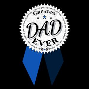 Mens Greatest Dad Ever Award drucken