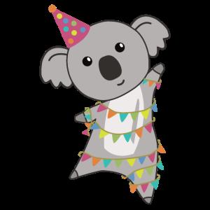 Geburtstagsbär Koala Bär Bärchen Girlande