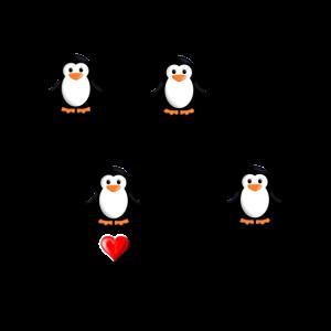Ich liebe Pinguine, Pinguine, Pinguinliebhaber, Pinguin