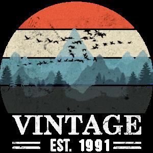 Vintage EST. 1991 - Distressed Look