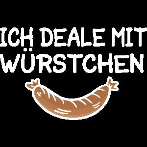 Deale Mit Würstchen Metzger Metzgermeister Wurst