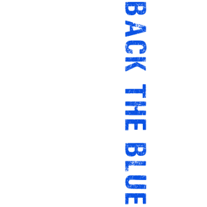 Back The Blue Thin Blue Line Spruch Polizei