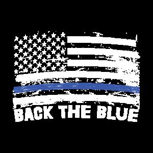 Back The Blue Thin Blue Line Geschenk Polizei