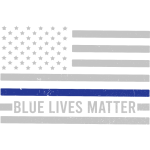 Blue Lives Matter Thin Blue Line Saying Flagge