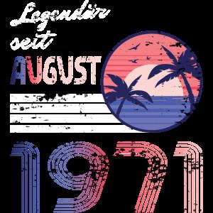 """Das """"Legendär seit August 1971"""" Design eignet sich"""