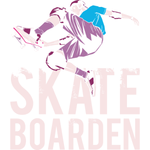 Skateboarder aus der Halfpipe