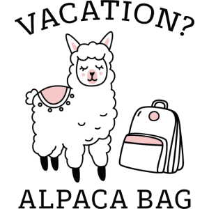 Ferien? Alpaka-Tasche