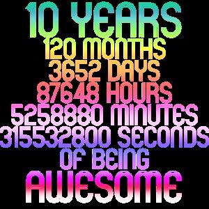 10 Years - 2 Schaltjahre 10 Jahre Kindergeburtstag