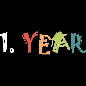first year 1 jubiläum anniversary