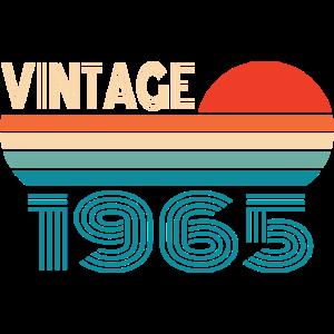 Vintage 1965 65 Geburtstag Retro Jahrgang Geschenk