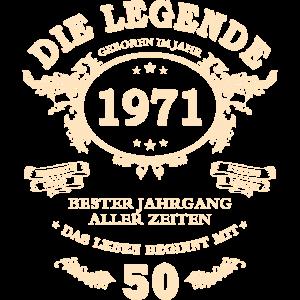 50. Geburtstag Geschenk Jahrgang 1971 50 Jahre alt