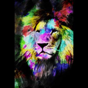 Löwe bunte Zusammenfassung