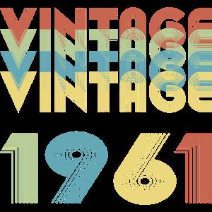 4x Vintage 1961, Geburtstagsshirt, Jahrgang 1961