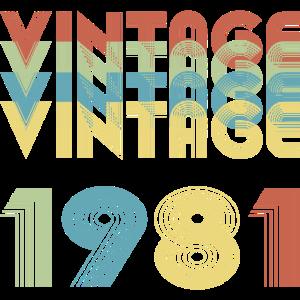 Birthday Vintage 1981