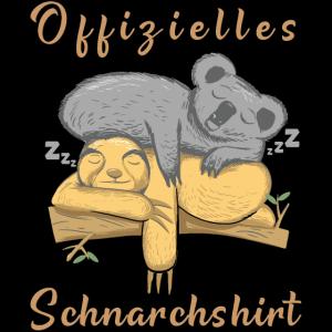 Offizielles Faultier Koala Schlafshirt