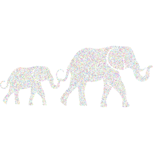 Elefantenfamilie Elefant