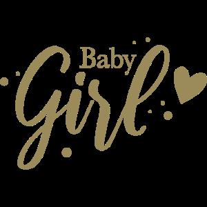 Baby Girl mit Herz und Punkten für Geschenk