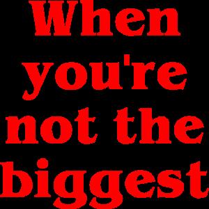 Wenn du nicht der Größte bist