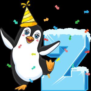 2. Geburtstag Pinguin 2 Jahre alt Kinder Geschenk