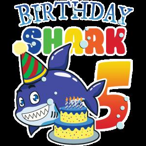 5. Geburtstagsgeschenk Jungen Mädchen, Hai, 5 Jahre alt