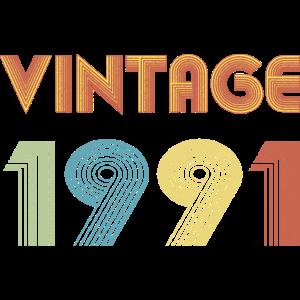 Vintage retro 1991- Birthday Shirt