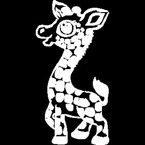Giraffe in weißem Design