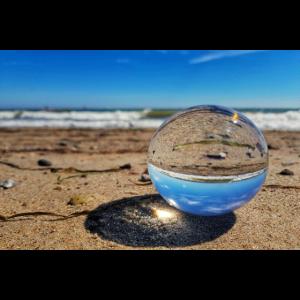 Ostsee Blick durch die Glaskugel