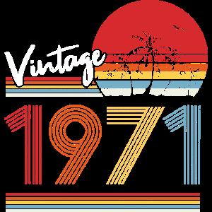 1971 50. Geburtstag Vintage