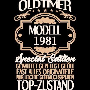 40. Geburtstag Mann Oldtimer Jahrgang 1981