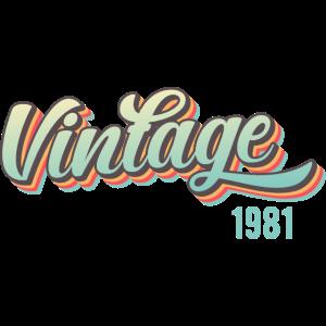 40. Geburtstag Vintage since 1981 40er Geschenk