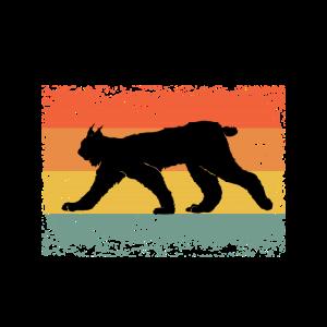 Vintage Luchs Wildtier Tier Geschenkidee