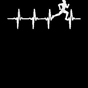 Laufender Heartbeat für Läufer & Jogger