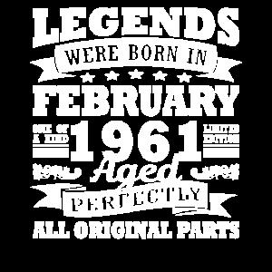 1961 Jahr Geburtstag Legendär seit Februar 1961