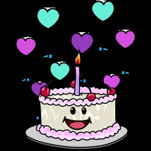 Torte Geburtstagskuchen Geburtstag Glückwunsch