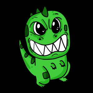 Niedlicher wütender Dinosaurier
