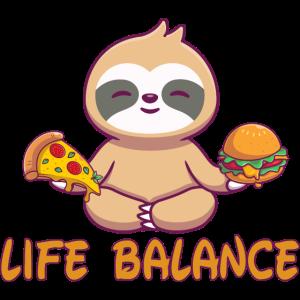 Life balance, Yin-Yang, Lifestyle, Yoga, Faultier