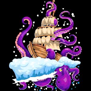 Piraten Seeungeheuer Kraken Oktopus
