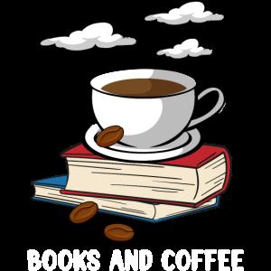 Bücher Lesen Und Kaffee Trinken
